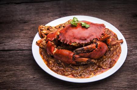 crab meat: Chilli crab asia cuisine. Singapore, Thailand Chilli Crab.