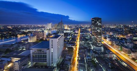 outdoor electricity: Urban City Skyline, Bangkok, Thailand. - Bangkok is capital of Thailand.