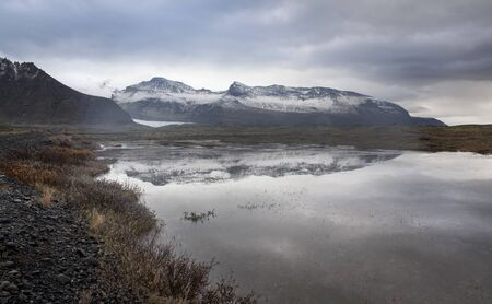 nordic country: Lake, Snow Mountain, Countryside in Iceland. -Iceland is a Nordic island country