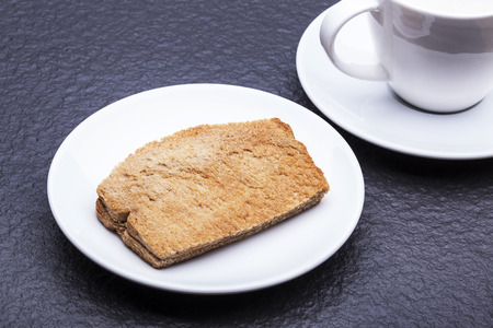 kaya: Kaya Toast Asia Snack on the white dish and table. - Kaya is coconut jam and is a well-known snack in Singapore  Malaysia