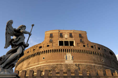angelo: Castel Sant Angelo Rome with angel statue