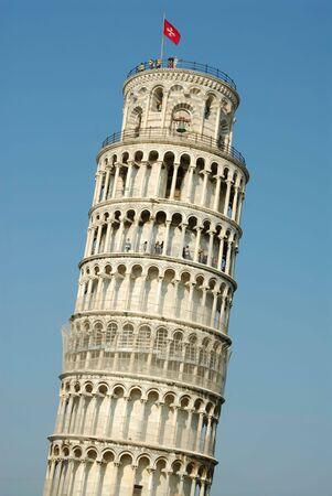 the famous leaning tower of pisa italy