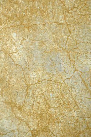 weather beaten: close up di cracking ocra sfondo muro weathered Roma Italia Archivio Fotografico
