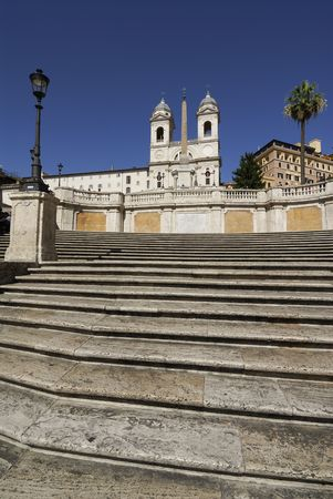 The Spanish Steps &amp, church of Trinita dei Monti Rome Italy photo