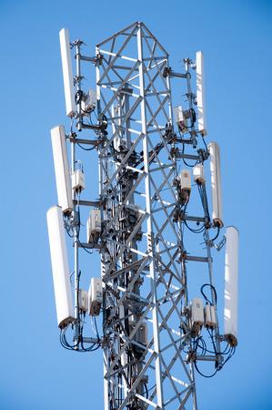 transmitter: transmitter antenna. Mobile phone transmitter tower. Cellular antenna.