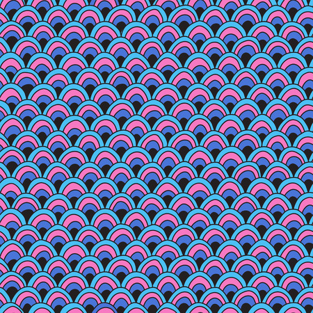 Seamless wave pattern. Abstract wavy background 免版税图像 - 109892464
