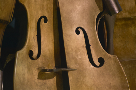 Macro detail of a vintage violin, a musical instrument of great tradition