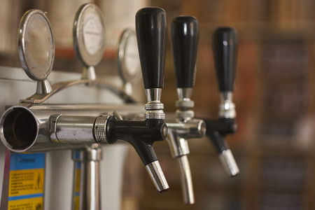 detail of a spinator used to spin wine and beer in a bar. industrial equipment for catering. 版權商用圖片