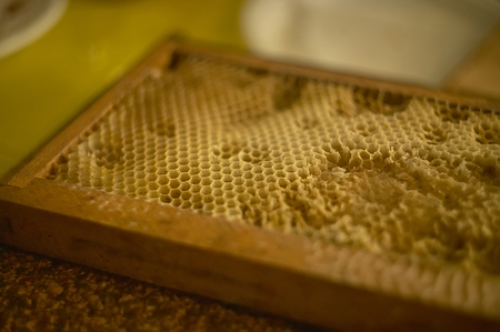 Beehive specially made for beekeeping for the production of genuine honey.
