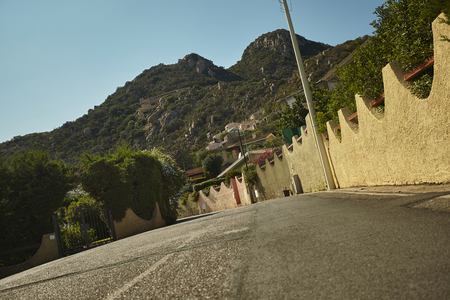 Landscape by Costa Rei: a summer residential village for tourists visiting the south east coast of Sardinia. 写真素材