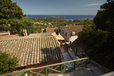Particular Villas in the village of Costa Rei in Sardinia, summer villas overlooking the sea.