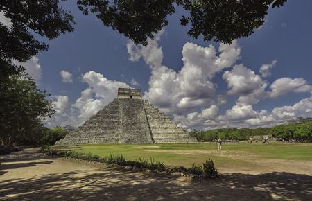 Pyramid of Chichen Itza Filtered by Vegetation