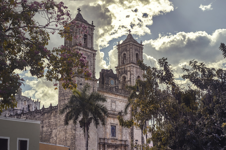 Glimpse of the Church of San Servasio in Valladolid, Mexico #2