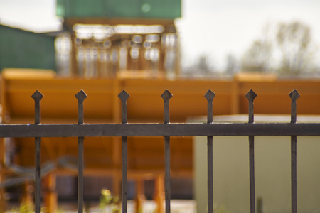 Detail of the fence enclosing an industrial complex: Image evocative of the