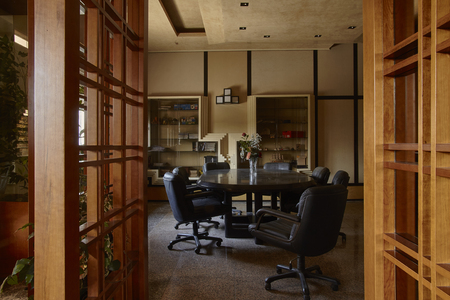 Interior of a vintage luxury office.