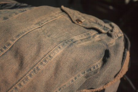 Detail of the Jeans Stitch near the pocket Imagens