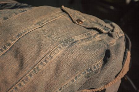 Detail of the Jeans Stitch near the pocket Banco de Imagens - 124985053