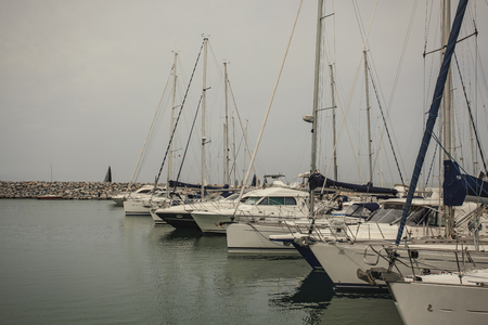 Luxury boats moored in the Port of San Vincenzo in Italy #2