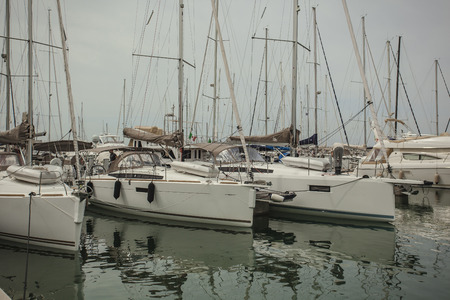 Luxury boats moored in the Port of San Vincenzo in Italy #3