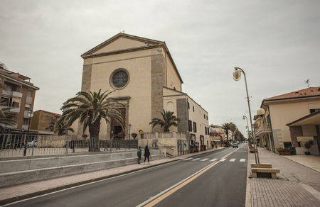 View of the historic center of the city of San Vincenzo in Italy #4