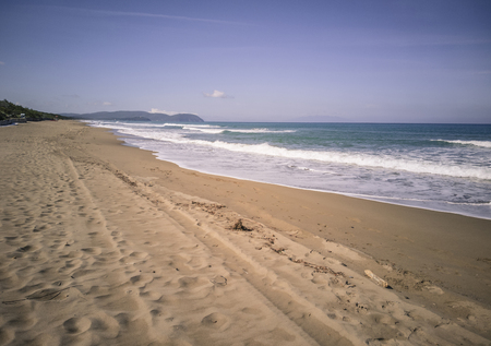 San Vincenzo beach in Tuscany (Italy) shot in the morning 写真素材