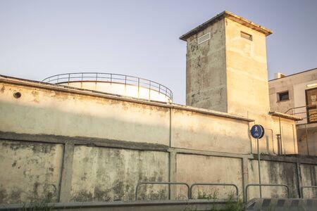 Maintenance building near the port of Livorno
