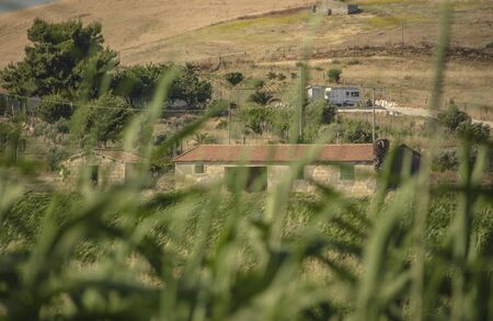 Countryside ruin immersed in the Sicilian hills