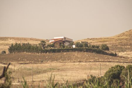House among the hills in Sicilian Hinterland