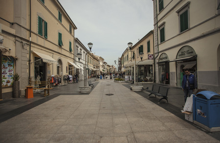 View of the historic center of the city of San Vincenzo in Italy