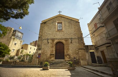 Sicilian Church in the town of Butera Stock Photo
