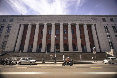 View of the building of the main Postal Office of Palermo Stock Photo