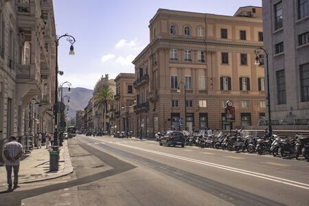 Palermo intersection in day 写真素材