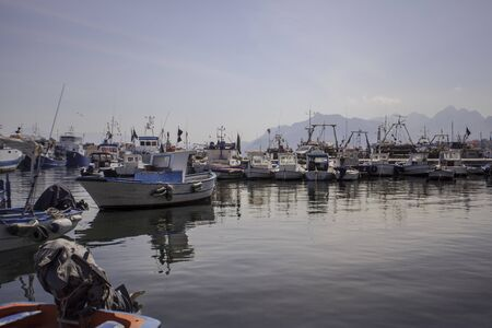 View of the port of Bagnera in the locality of Porticello near Palermo in Sicily