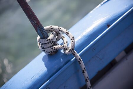 Sailor's Knot in a wooden boat