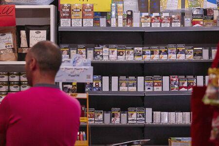 Open tabakswinkel in Italië Stockfoto