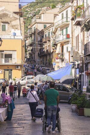 Traditional Monreale market in Sicily, near Palermo
