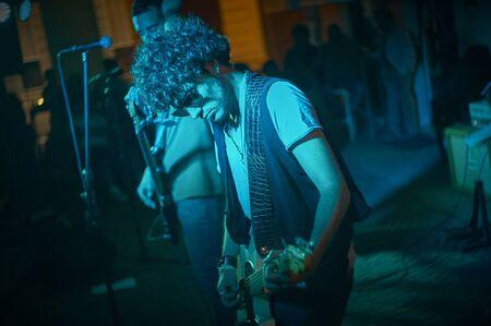 Rocker at night performance in USA Stock Photo - 131719327