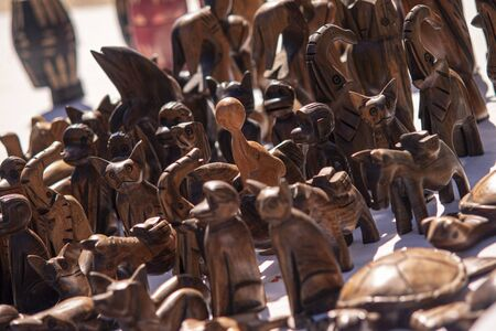 Dominican hand made wooden figurines