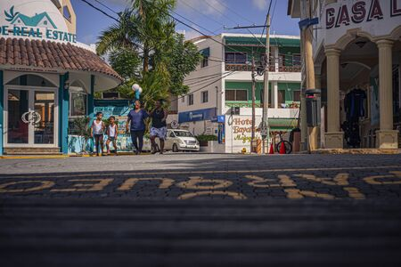 BAYAHIBE, DOMINICAN REPUBLIC 21 JANUARY 2020: Scene of daily life in the town of Bayahibe in the Dominican Republic during a summer day