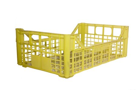 Isolated Plastic crate for vegetables with white background 版權商用圖片