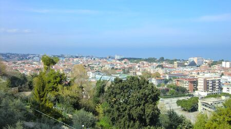 View from above of the Italian city of Giulianova during day