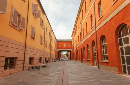 Street of the Tobacco Factory in Modena, Italy. In english Street of the Tobacco Factory in Modena, Italy.