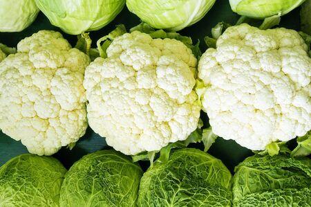 coliflor: repollo y coliflor