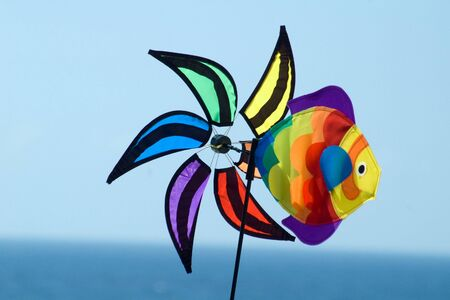 windless: colourful spinwheel, without rudder, windless and still