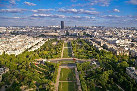 aereal: aerial view of paris Stock Photo