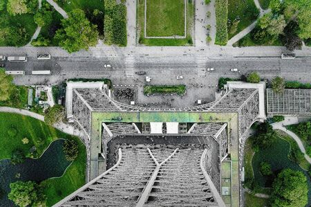 view from the eiffel tower, vertical photo