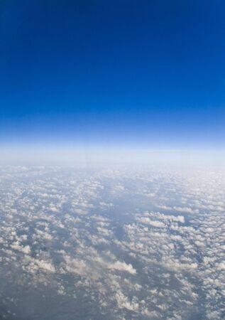 meters: sea of clouds to 11000 meters, on a transatlantic flight