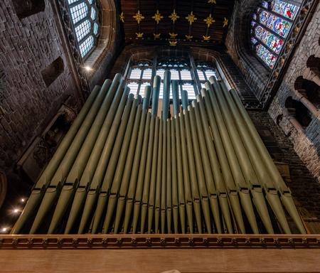 CHESTER, UK - 8TH MARCH 2019: A close up of Chester Organ Redakční
