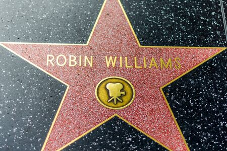 LA, USA - 30TH OCTOBER 2018: Deceased Robin Williams star on the hollywood hall of fame