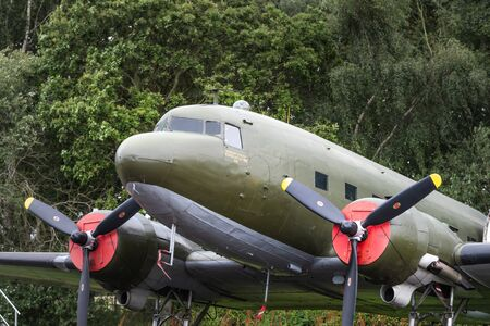 YORK, UK - 6TH AUGUST 2019: WW2 Douglas Dakota IV C-47B on display at Yorkshire Air Museum
